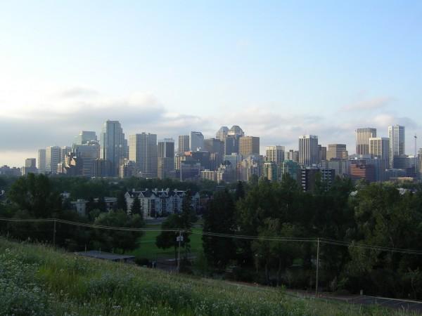 Calgary at dawn